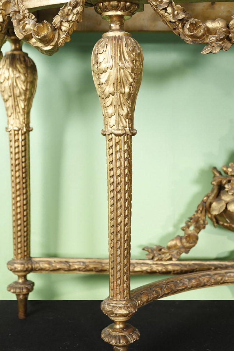 Console Louis XVI - en bois sculpté et doré