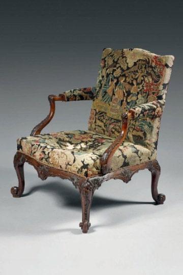 Important fauteuil en acajou - Library Armchair - Paul Sanders